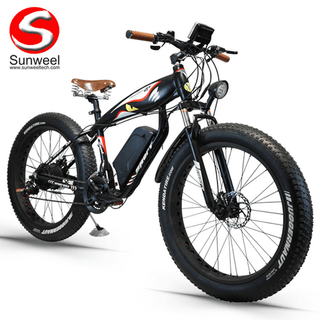 Fat Tire Beach Cruiser Electric Bike