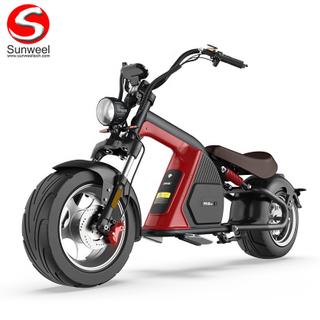 Fast Electric Scooter 30Ah Long Range Citycoco Fat Tire Scooters 3000w High Powered Motorcycle