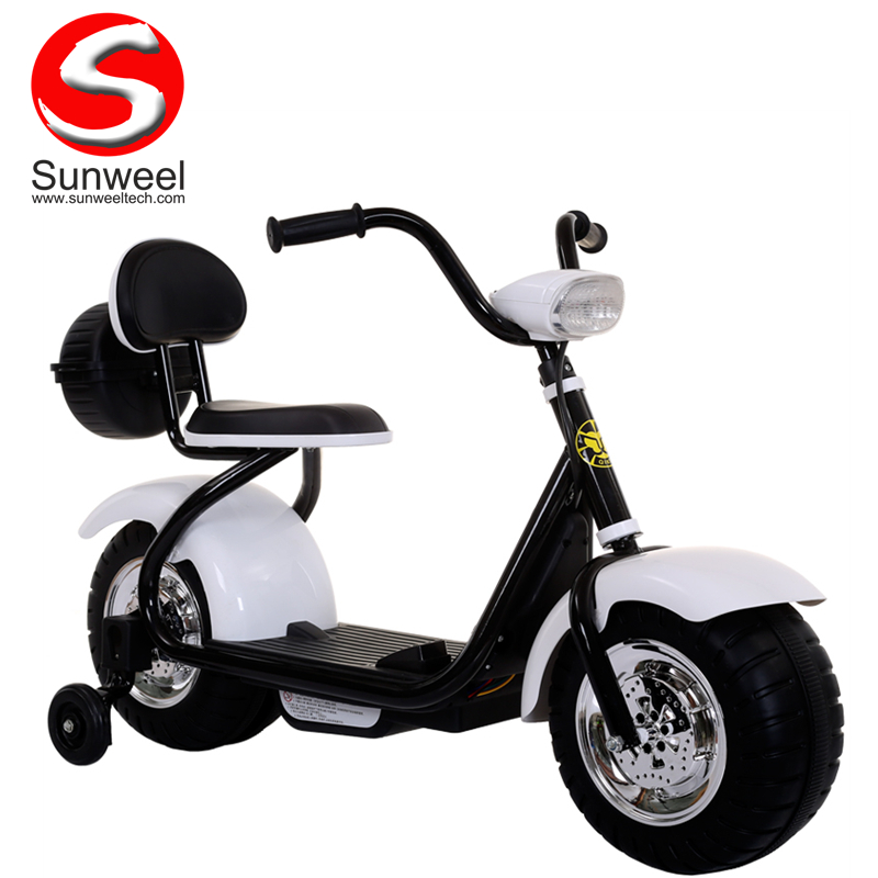 Suncycle Cheap Wholesale Ride on Two Wheels Kids Bike Electric Motorcycle Mini Electric Scooter for Kids