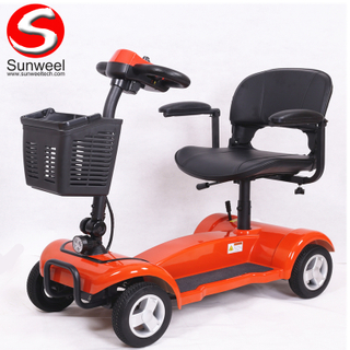 4 Wheel 180w 24v Foldable Mobility Scooter with Lead Acid Battery for Elderly