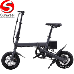 Suncycle 12 Inch Small Folding Ebike Mini Electric Bike 36v 240w Electric Bicycle