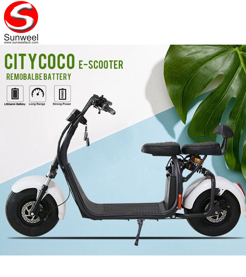 Wholesale Fat Tire Harley Electric Scooter with Removable Battery