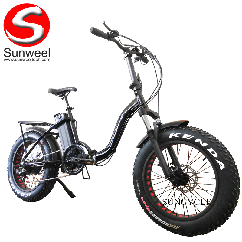 "20"" Fat Tire Electric Beach Cruiser Bicycle"