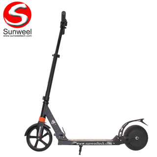 Folding Electric Power Assist Kick Scooter for Adults