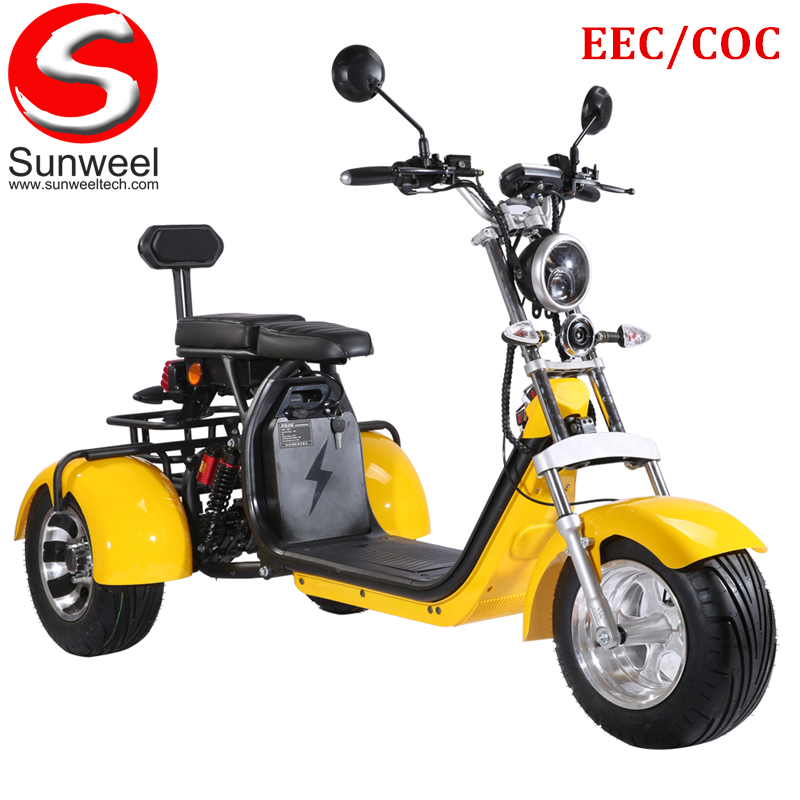 E-mark Powerful 3 Wheel EEC/COC 60V Electric Scooter for Europe